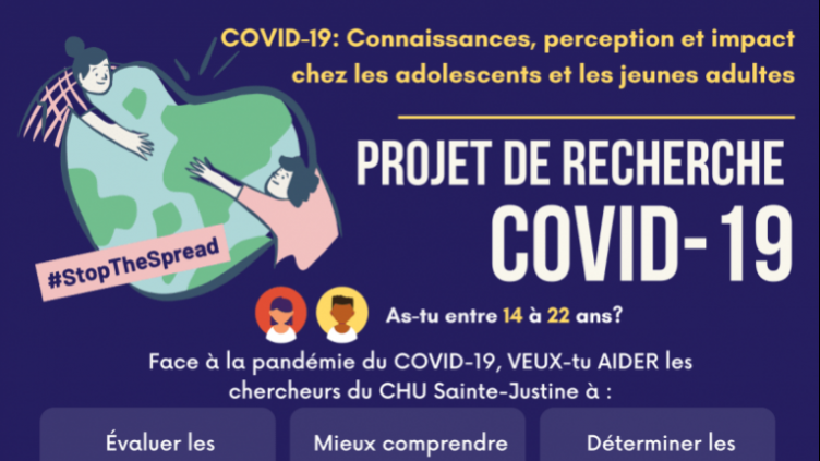 AS-TU ENTRE 14 À 22 ANS? PROJET DE RECHERCHE COVID-19